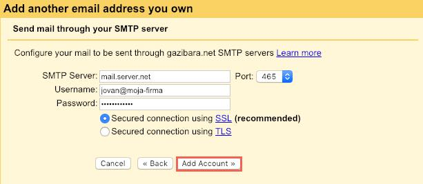 Connect your email account with Gmail - mCloud